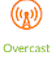 logo for Overcast podcasts